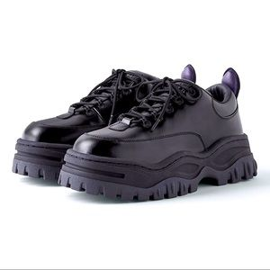 Eytys Platform Black Leather Angel Sneakers NWOB